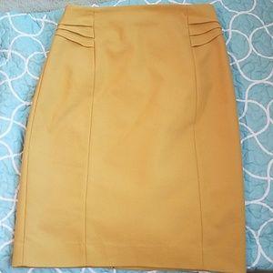 Mustard express pencil skirt